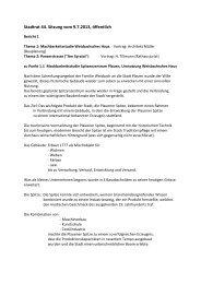 Stadtrat 44. Sitzung vom 9.7.2013, öffentlich - CDU Plauen