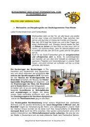 Bürgerbrief vom 19.12.2013 - Stadt Frankenthal