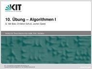 Tricks beim Aufstellen von LPs - KIT – ITI Algorithmik II