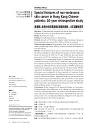 Special features of non-melanoma skin cancer in Hong Kong ...