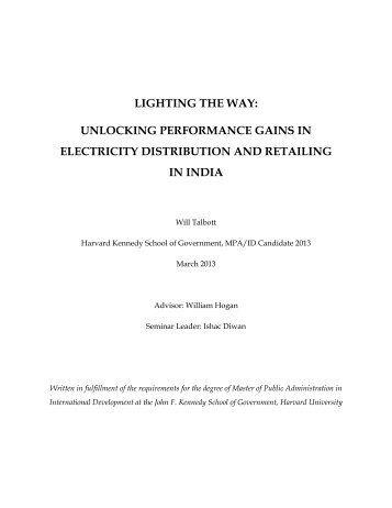 unlocking performance gains in electricity distribution and retailing ...