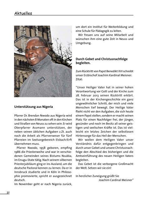 Unser Pfarrbrief Ostern 2013 - Hl-dreikoenige-neuss.de