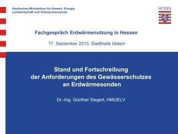 Stand der Fortschreibung, Rückblick auf die Anhörung - Hessisches ...
