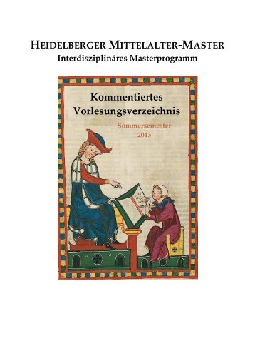 Sommersemester 2013 - Heidelberg Mittelalter Master - Uni.hd.de