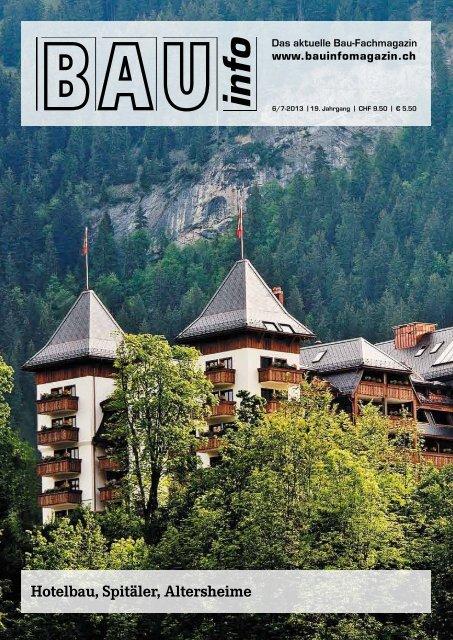 BAU info Ausgabe Juni/Juli 2013 - BSS&M Real Estate AG