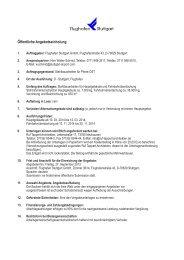 Öffentliche Angebotseinholung - Stuttgart