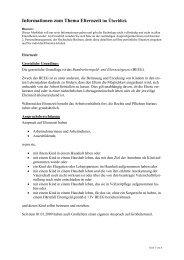 Info Elternzeit - Hochschule Bochum