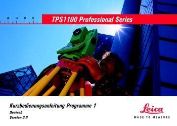 TPS1100 Professional Series - Hochschule Bochum
