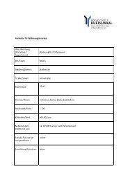 Formular für Wohnungsinserate: WG/ Wohnung - Hochschule Rhein ...