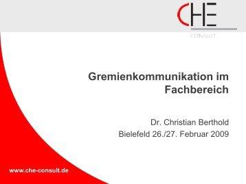 Beitrag Berthold, Gremienkommunikation (Acrobat ... - Hochschulkurs