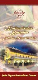 Kulinarischer Kalender - Hotel Restaurant Höttche