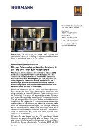 ge Tore und Türen zum Aktionspreis - Hörmann KG