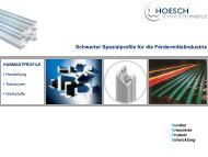 Dokumentation Hubmastprofile - Hoesch - Schwerter Profile