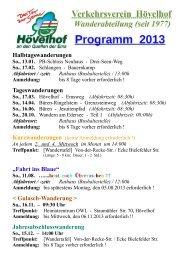 Wanderprogramm für die Westentasche - Hövelhof
