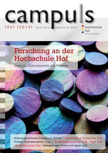 Forschung an der Hochschule Hof