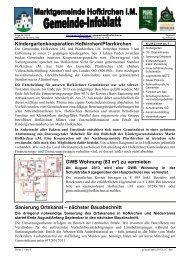 Gemeindeinfo 07/2013