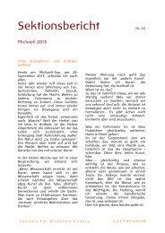 Sektionsbericht - Goetheanum