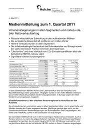 PDF-Version dieser Medienmitteilung - Holcim Schweiz