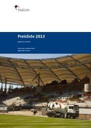 Preisliste 2013 - Holcim Süddeutschland