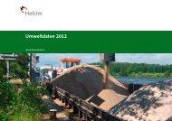 Umweltdaten 2012 - Holcim (Deutschland) AG