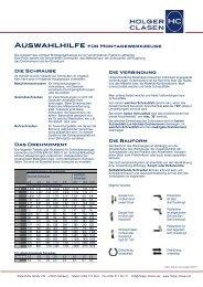 Auswahlhilfe für Montagewerkzeuge Die Schraube Das ...
