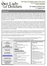 Bulletin 11 August 2013 - Diocese of Broken Bay