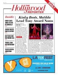 Kinky Boots, Matilda Lead Tony Award Noms - The Hollywood ...