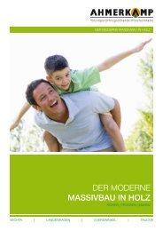 Massivbau in Holz-Bauherr-Broschüre downloaden - Holz Ahmerkamp