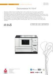 Technisches Datenblatt - Wamsler GmbH