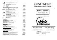 Junckers Massivparkett Angebote - Holz Widmann
