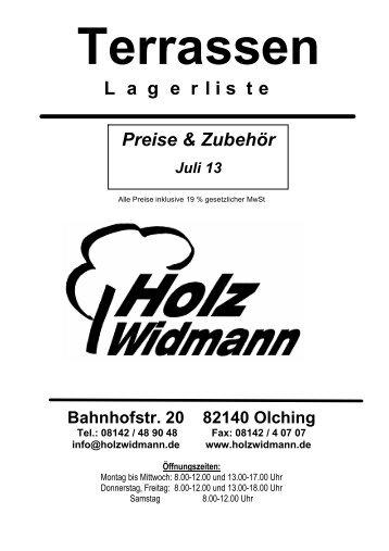 Terrassenbeläge - Holz Widmann