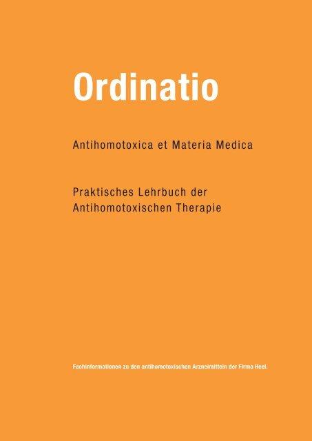 Ordinatio antihomotoxica et materia medica - Hom4