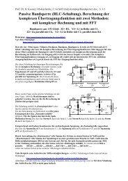 (RLC-Schaltung). Berechnung der komplexen Übertragungsfunktion