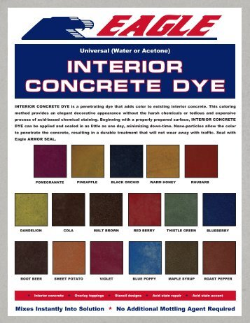 INTERIOR CONCRETE DYE - Home Depot