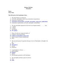 Biology 260 Quiz (20 points) Name: Class Time: Take this quiz at the ...