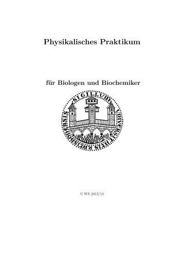 Physikalisches Praktikum