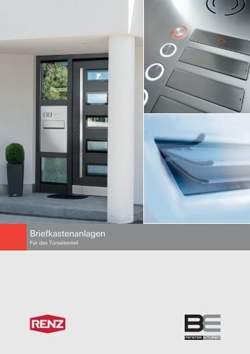 Briefkastenanlagen für das Türseitenteil - BE Bauelemente GmbH