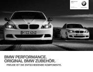 Zubehör BMW Performance Preisliste