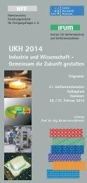 Programm UKH 2014 - DYNAmore