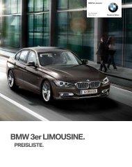 Preise BMW 3er Limousine - Motorline.cc