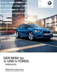 Preisliste (PDF - 1,9 MB) - BMW Deutschland
