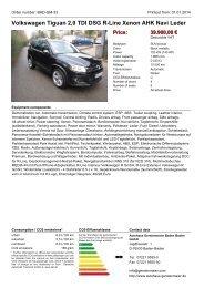 Volkswagen Tiguan 2,0 TDI DSG R-Line Xenon AHK Navi Leder Price