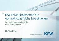 Unterlagen der KfW Förderbank