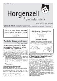 Ausgabe vom 02. August 2013 - Horgenzell