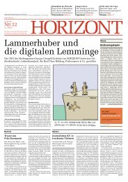 Lammerhuber und die digitalen Lemminge - Horizont.at