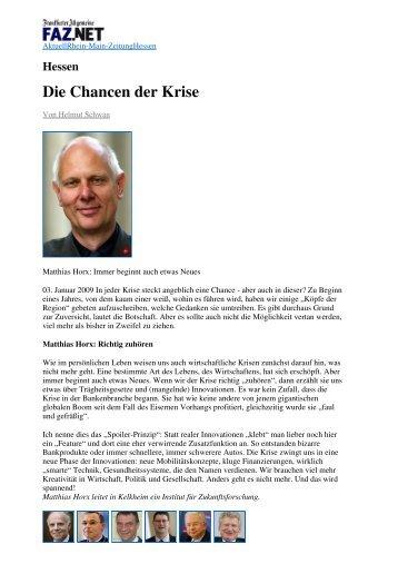 Frankfurter Allgemeine - Matthias Horx