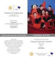 CORINNA MAYER - Stiftung Hospital zum Heiligen Geist