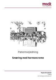 Patientvejledning Smøring med hormoncreme - Hospitalsenhed Midt