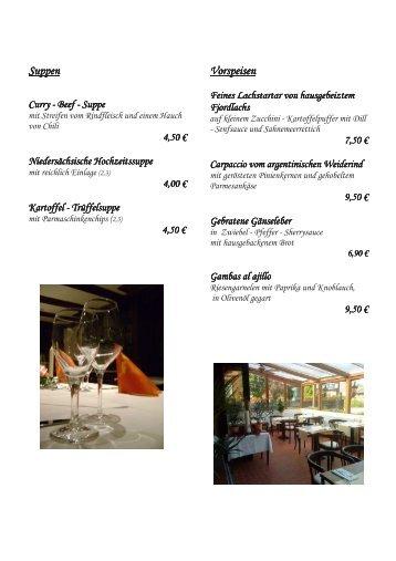 Speisekarte - Hotel zur Linde