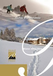 Winterpreisliste 2013/2014 - Hotel Peter